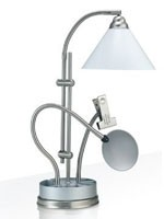 Lampe Prestige sur socle de table, argent