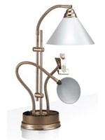 Lampe Prestige sur socle de table, bronze