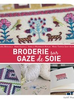 Broderie sur gaze de soie