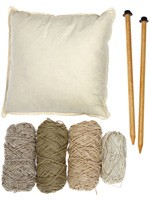 Kits Coussin au tricot gant