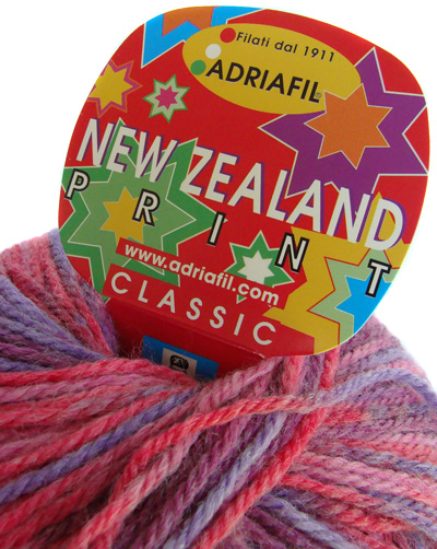 NEW ZEALAND fil à tricoter multicolore Adriafil