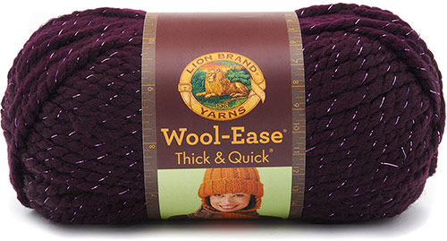 WOOL EASE thick and quick de chez Lion Brand en bordeaux
