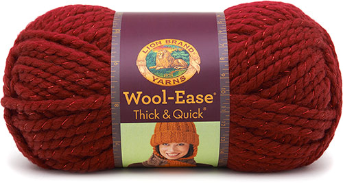 WOOL EASE thick and quick de chez Lion Brand en rouge