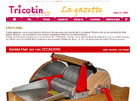 LA GAZETTE : newsletter de tricotin.com