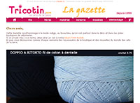 Newsletter de tricotin.com édition du 06/03/14