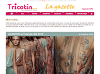 La Gazette des arts textiles : 16 oct 2014