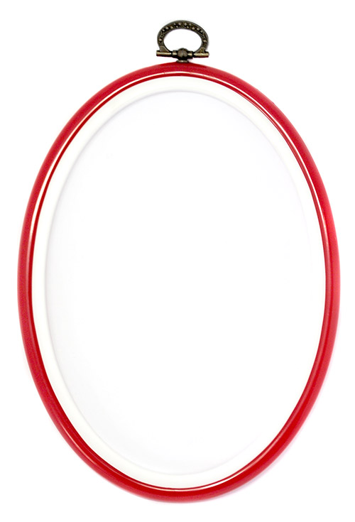 tambour oval pour broderie