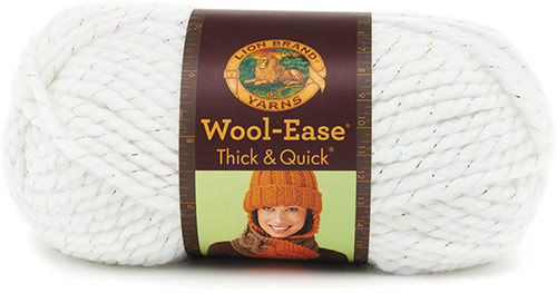WOOL EASE thick and quick de chez Lion Brand en blanc
