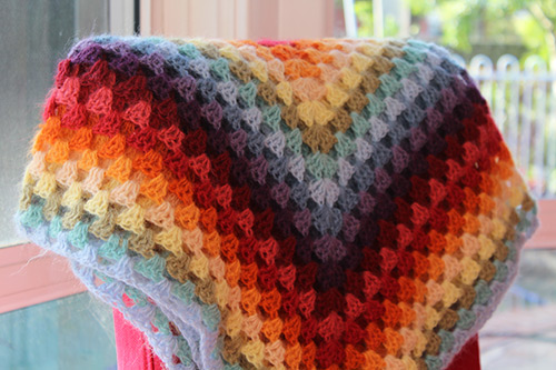 granny square plaid