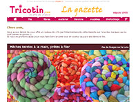 LA GAZETTE : newsletter de tricotin.com 10/10/13