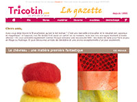 La gazette, newsletter du site tricotin.com